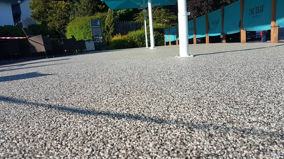 resin bound aggregate beer garden, ambleside